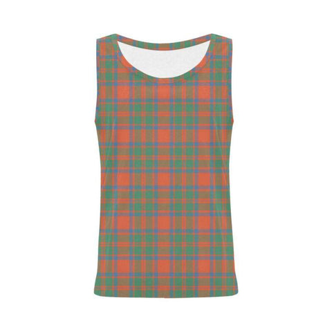 Mackintosh Ancient Tartan All Over Print Tank Top Nl25 S / Women Tops