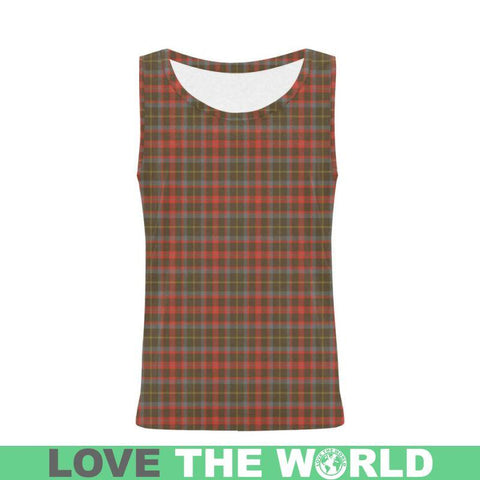 Image of Mackintosh Hunting Weathered Tartan All Over Print Tank Top Nl25 Xs / Men Tops