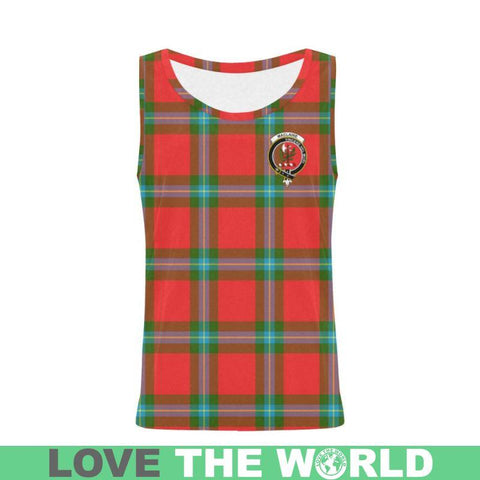 Maclaine Of Loch Buie Tartan Clan Badge All Over Print Tank Top Nl25 Xs / Men Tops