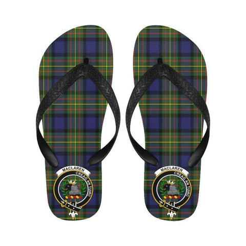 Maclaren Modern Tartan Clan Badge Flip Flops For Men/women S12 Unisex
