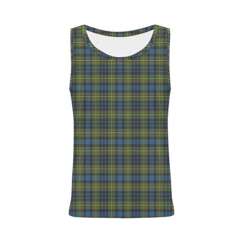 Maclellan Ancient Tartan All Over Print Tank Top Nl25 S / Women Tops