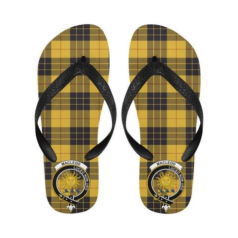 Macleod Of Lewis Ancient Tartan Clan Badge Flip Flops For Men/women S12 Unisex