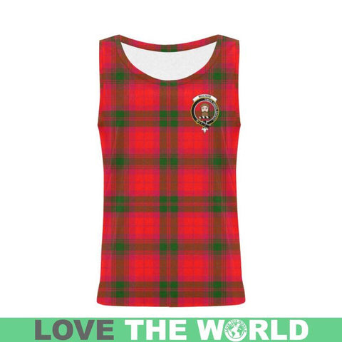 Macnab Modern Tartan Clan Badge All Over Print Tank Top Nl25 Xs / Men Tops