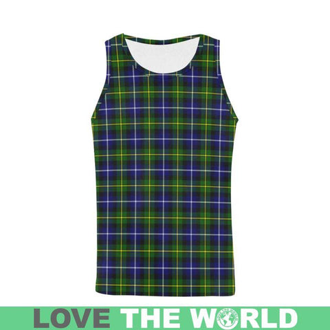 Image of Macneill Of Barra Modern Tartan All Over Print Tank Top Nl25 S / Women Tops