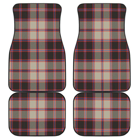 Car Floor Mats - Clan Macpherson Hunting Ancient Plaid Tartan Car Mats - 4 Pieces
