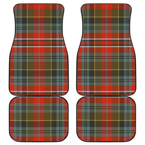 Car Floor Mats - Clan Macpherson Weathered Plaid Tartan Car Mats - 4 Pieces