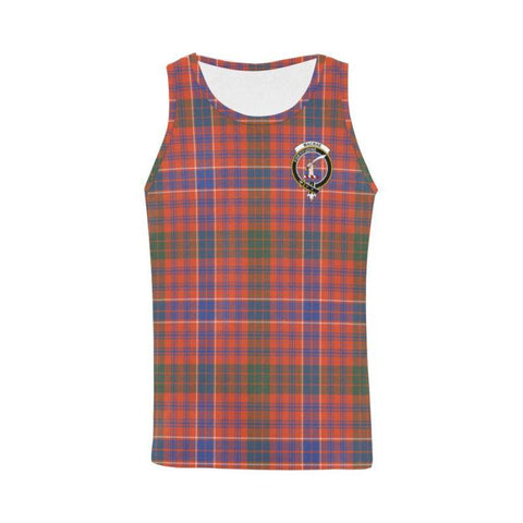 Macrae Ancient Tartan Clan Badge All Over Print Tank Top Nl25 Xs / Men Tops