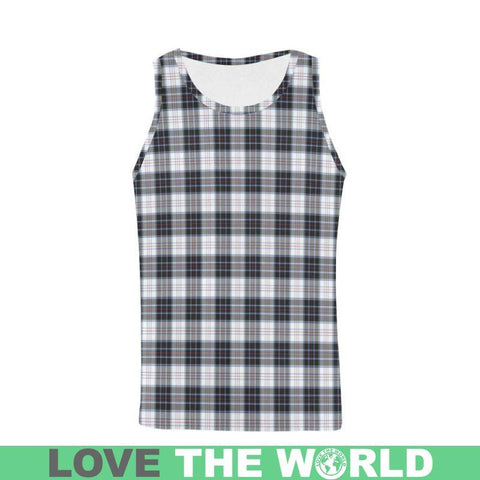Macrae Dress Modern Tartan All Over Print Tank Top Nl25 S / Women Tops
