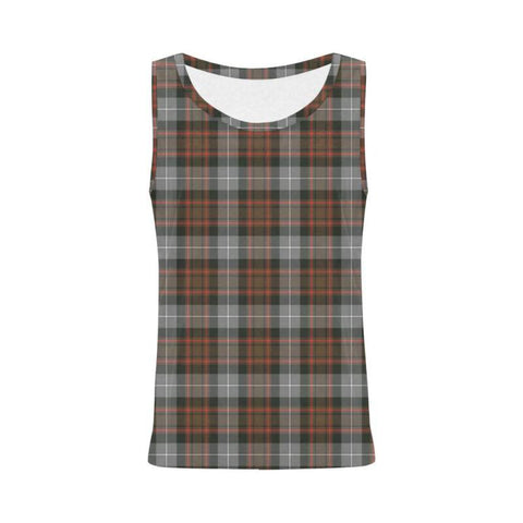 Macrae Hunting Weathered Tartan All Over Print Tank Top Nl25 S / Women Tops