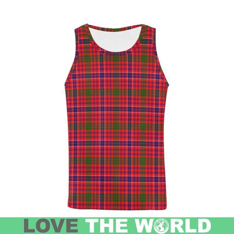 Macrae Modern Tartan All Over Print Tank Top Nl25 S / Women Tops