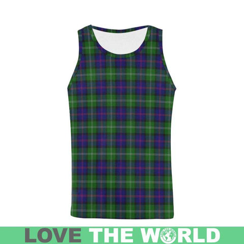 Macthomas Modern Tartan All Over Print Tank Top Nl25 S / Women Tops