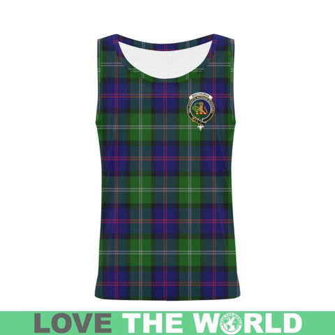 Macthomas Modern Tartan Clan Badge All Over Print Tank Top Nl25 Xs / Men Tops
