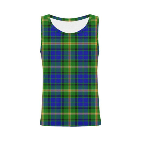 Maitland Tartan All Over Print Tank Top Nl25 S / Women Tops