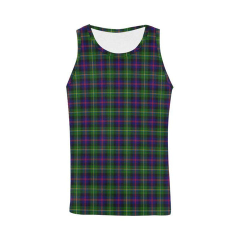Image of Malcolm Modern Tartan All Over Print Tank Top Nl25 Xs / Men Tops
