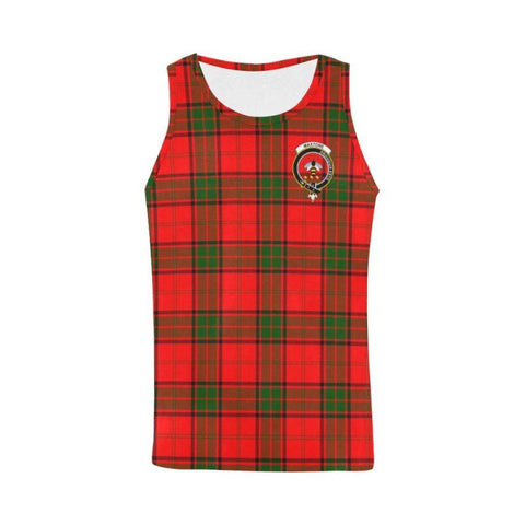 Maxtone Tartan Clan Badge All Over Print Tank Top Nl25 Xs / Men Tops