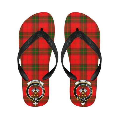 Maxtone Tartan Clan Badge Flip Flops For Men/women S12 Unisex