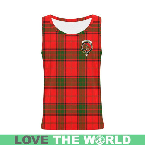 Maxwell Modern Tartan Clan Badge All Over Print Tank Top Nl25 Xs / Men Tops