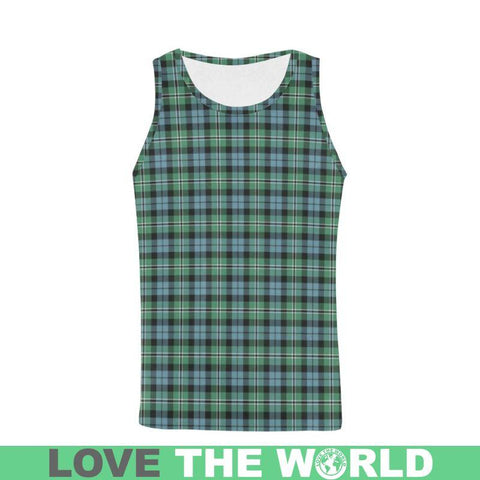 Image of Melville Tartan All Over Print Tank Top Nl25 S / Women Tops
