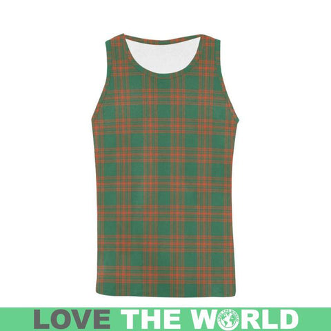Menzies Green Ancient Tartan All Over Print Tank Top Nl25 S / Women Tops