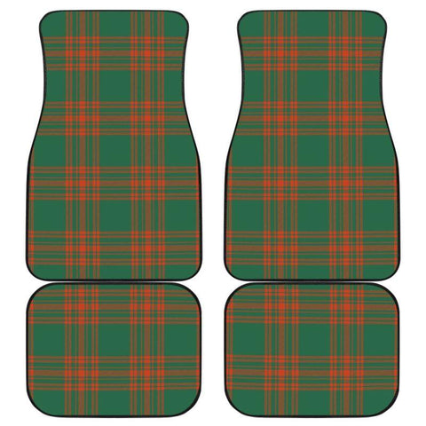 Car Floor Mats - Clan Menzies Green Ancient Plaid Tartan Car Mats - 4 Pieces