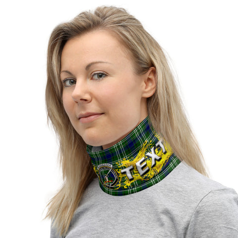 Custom Neck Gaiter - blackadder Tartan Neck Gaiter