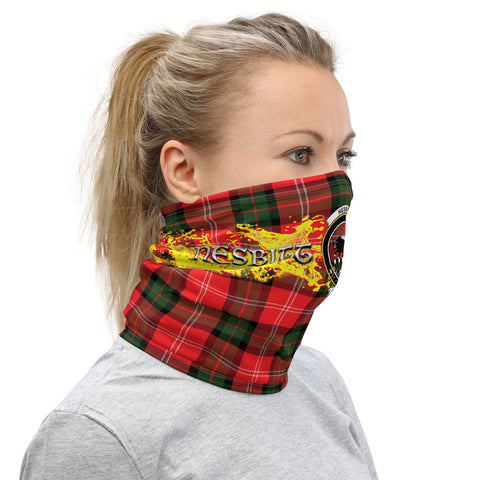 Image of Tartan Neck Gaiter - Nesbitt Clan Neck Gaiter VER1