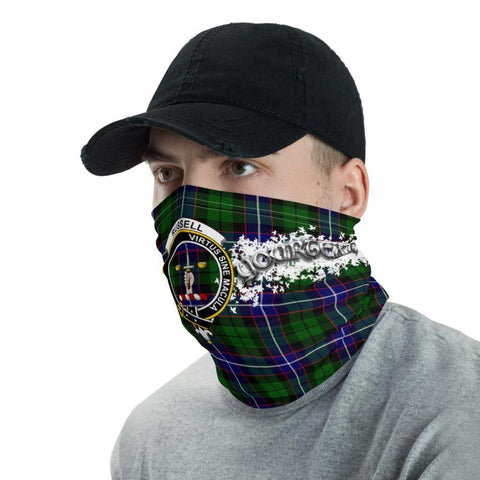 Image of Tartan Russell - Clan Russell Crest Neck Gaiter