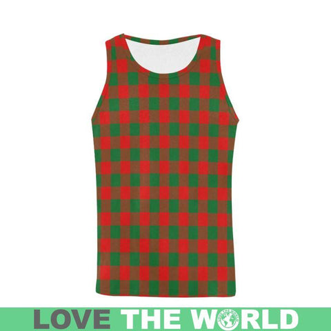 Moncrieffe Tartan All Over Print Tank Top Nl25 S / Women Tops