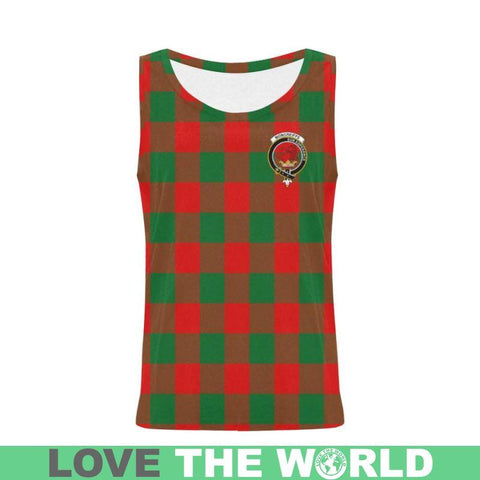 Moncrieffe Tartan Clan Badge All Over Print Tank Top Nl25 Xs / Men Tops
