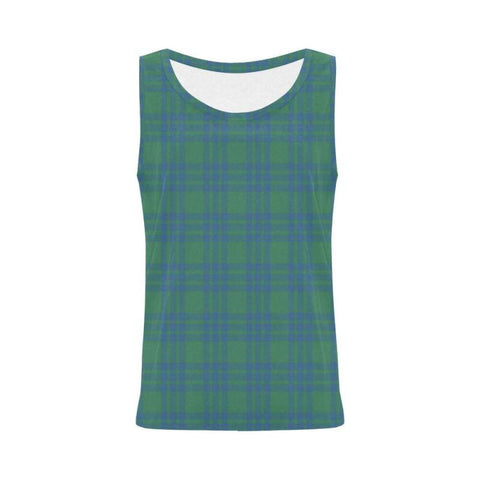 Montgomery Ancient Tartan All Over Print Tank Top Nl25 S / Women Tops