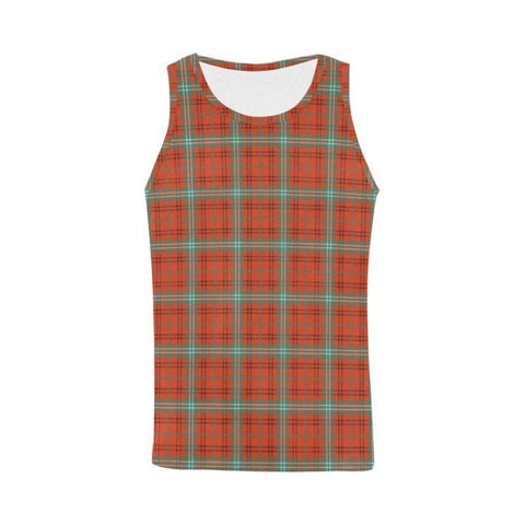 Morrison Red Ancient Tartan All Over Print Tank Top Nl25 Xs / Men Tops