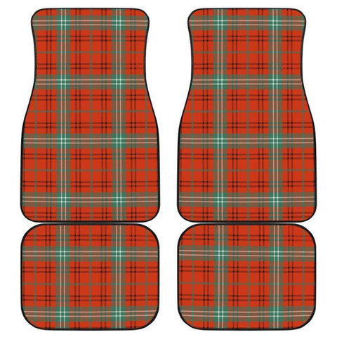 Car Floor Mats - Clan Morrison Red Ancient Plaid Tartan Car Mats - 4 Pieces