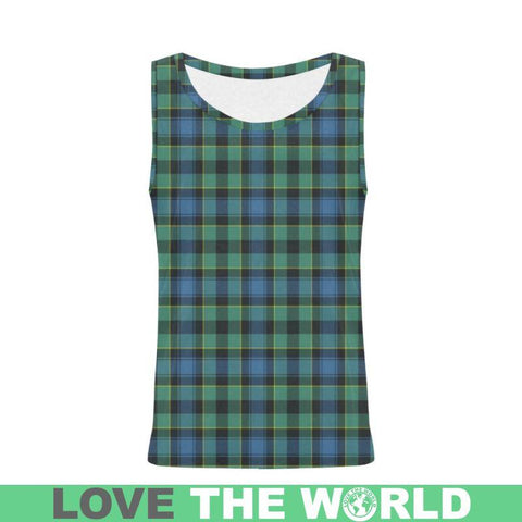 Mouat Tartan All Over Print Tank Top Nl25 Xs / Men Tops