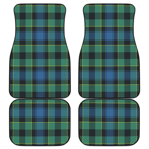 Car Floor Mats - Clan Mouat Plaid Tartan Car Mats - 4 Pieces