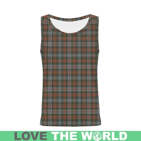 Image of Murray Of Atholl Weathered Tartan All Over Print Tank Top Nl25 Xs / Men Tops