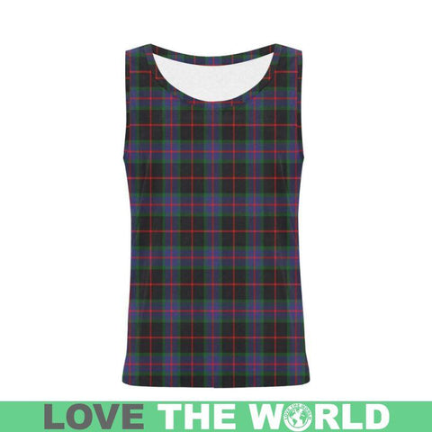 Nairn Tartan All Over Print Tank Top Nl25 Xs / Men Tops