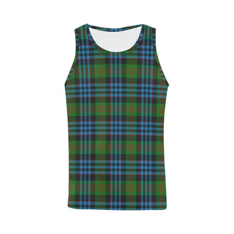 Newlands Tartan All Over Print Tank Top Nl25 Xs / Men Tops