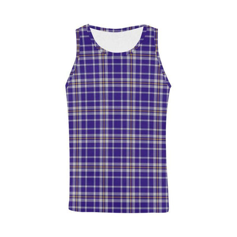 Ochterlony Tartan All Over Print Tank Top Nl25 Xs / Men Tops