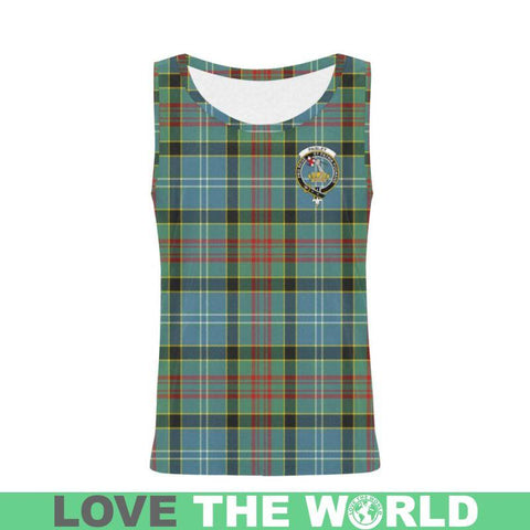 Image of Paisley District Tartan Clan Badge All Over Print Tank Top Nl25 Xs / Men Tops