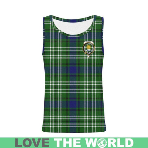 Image of Purves Tartan Clan Badge All Over Print Tank Top Nl25 Xs / Men Tops