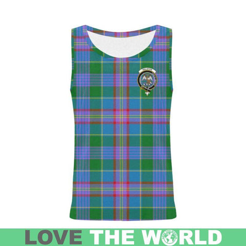 Ralston Tartan Clan Badge All Over Print Tank Top Nl25 Xs / Men Tops
