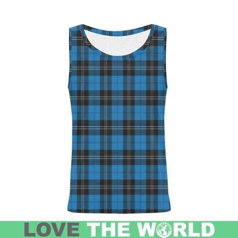 Image of Ramsay Blue Ancient Tartan All Over Print Tank Top Nl25 Xs / Men Tops