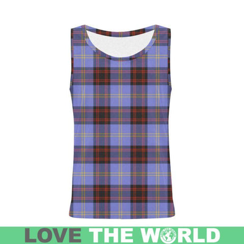 Image of Rutherford Tartan All Over Print Tank Top Nl25 Xs / Men Tops