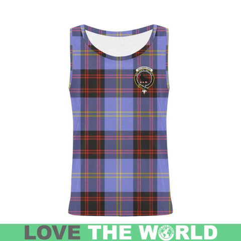 Image of Rutherford Tartan Clan Badge All Over Print Tank Top Nl25 Xs / Men Tops