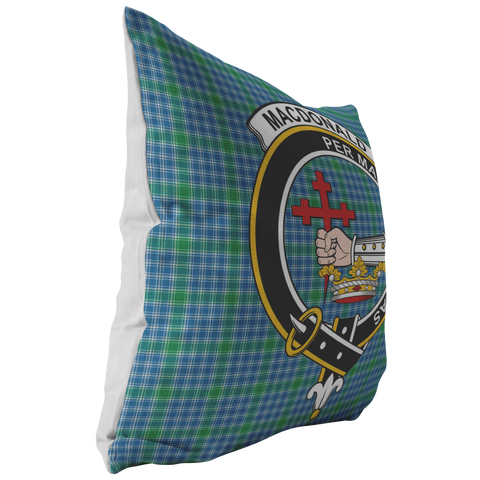 Image of Pillowcase - Macdonald Lord Of The Isle Tartan Crest Pillow Cover