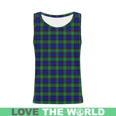 Sempill Modern Tartan All Over Print Tank Top Nl25 Xs / Men Tops