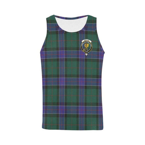 Image of Sinclair Hunting Modern Tartan Clan Badge All Over Print Tank Top Nl25 Xs / Men Tops