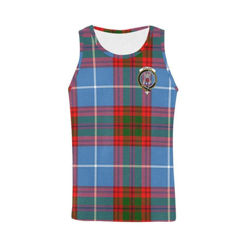 Spalding Tartan Clan Badge All Over Print Tank Top Nl25 Xs / Men Tops