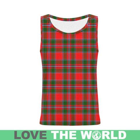 Image of Spens Modern Tartan All Over Print Tank Top Nl25 Xs / Men Tops