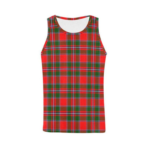 Spens Modern Tartan All Over Print Tank Top Nl25 Xs / Men Tops